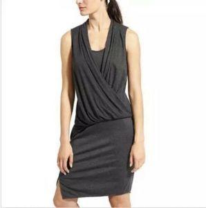 ATHLETA Gray Duet Dress Casual Athletic Sleeveless